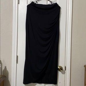 Worthington ruched black maxi skirt!